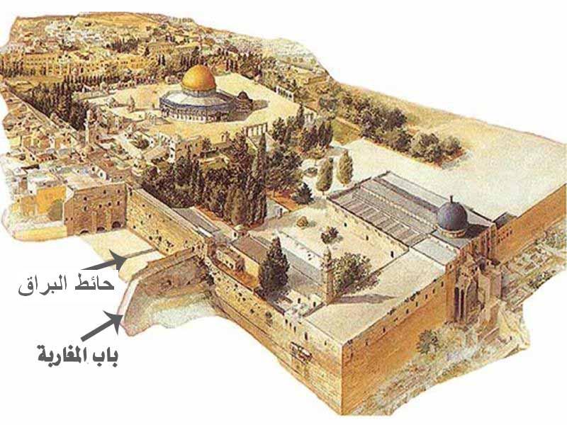 ما هو حائط البراق (المبكى كما يزعم اليهود)؟