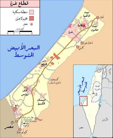 التجمعات السكنية في قطاع غزة