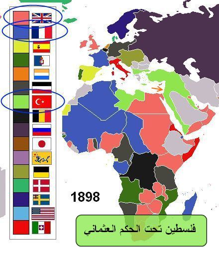 فلسطين تحت الحكم العثماني وبداية احتلال الدول الكبرى للعثمانيين