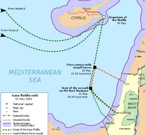 مسار اسطول الحرية