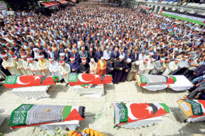 تشييع شهداء اسطول الحرية في تركيا
