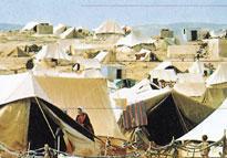 كانت المخيمات في السابق عبارة عن خيم من قماش