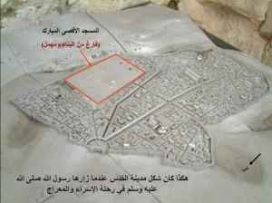 شكل المسجد الأقصى عندما أسري بالرسول إليه
