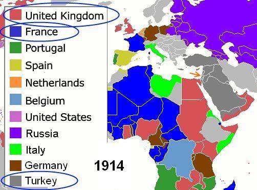 خريطة العالم: 1914 ميلادي