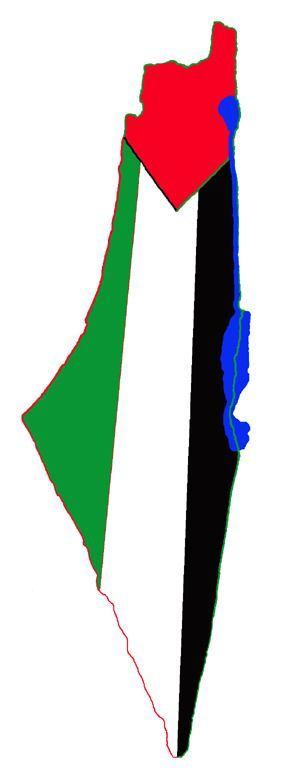 خريطة فلسطين - علم فلسطين