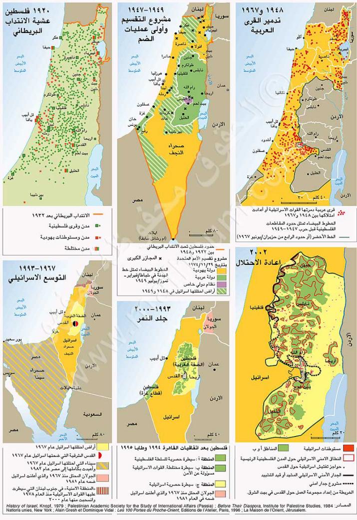 خريطة تقسيم فلسطين